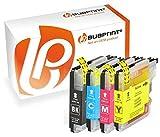 Bubprint 4 Druckerpatronen kompatibel für Brother LC 985 LC985 LC-985 für DCP J125 J 125 140W J140W 315 W J315 J515W MFC J220 J265W J415W Multipack