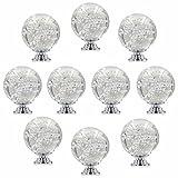 FBSHOP(TM) 10 Stück 40mm Dekorative Niedlich Blasen transparente Kristallglas Kugel Form Knöpfe/Griffe / Türknauf für Küchenschränke, Schublade, Kommode, Garderobe