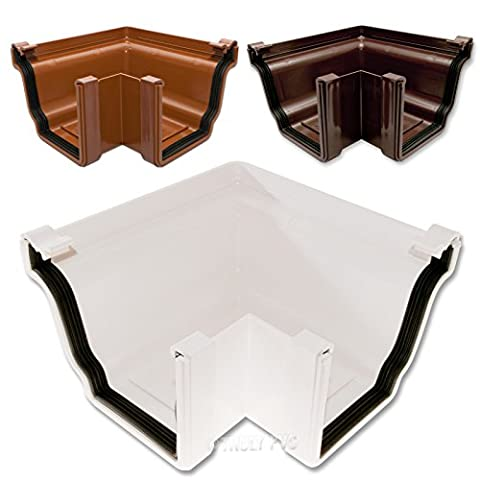 1 x White K2 Ogee Gutter 90° External Corner Joint C8040WH - Choice of Colours available