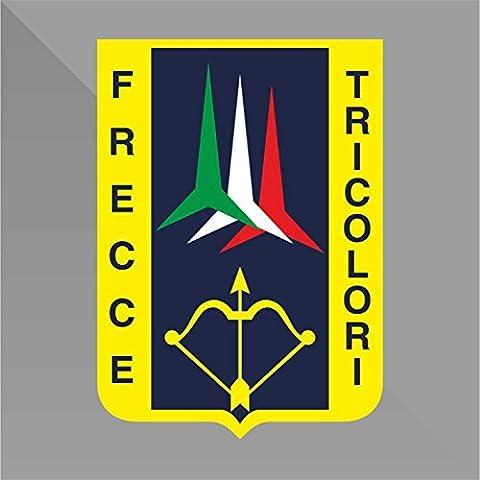 Sticker Frecce Tricolori Italia Italy Italie Italien - Decal Cars Motorcycles Helmet Wall Camper Bike Adesivo Adhesive Autocollant Pegatina Aufkleber - cm 22