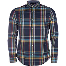 Original Penguin Hombre Slim Fit tela escocesa de la camisa del logotipo, Multicolor, Medium