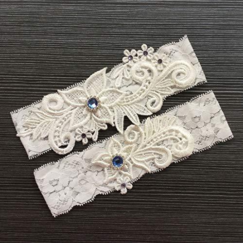 hzeit liefert Feder Braut Strumpfband Beinschmuck Ringkissen Set Hochzeit Dekoration Hochzeit liefert (Farbe : White) ()