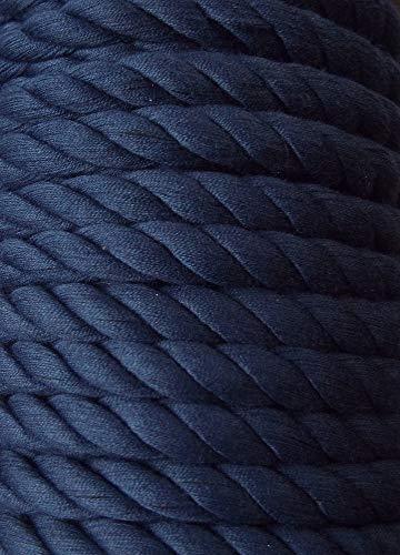 Großhandel für Schneiderbedarf 3 m Baumwollkordel 10 mm dunkel blau