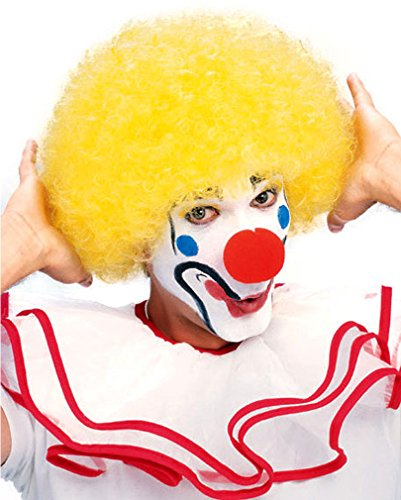 jaune perruque de clown