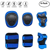 Child Kids Protective Gear Set, Knee Pads Elbow Pads Wrist Guards 6 pcs for Multi Sports Skateboard Inline Roller Skates Cycling Biking BMX Bicycle
