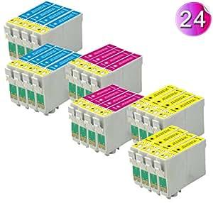 24x Compatible Ink Cartridge T0715 Replace to 8x T0712 8x T0713 8x T0714 Epson SX215 SX515W BX300f SX415 SX218 SX115 SX400 SX105 SX215 D120 D78 D92 DX4000 DX4050 DX4400 DX4450 DX5000 DX5050 DX6000 DX6050 DX7000 DX7400 DX7450 DX8400 DX8450 DX9400F S20 S21 SX100 SX105 SX110 SX200 SX205 SX209 SX210 SX405 SX410SX600FW SX610FW BX300F BX310FN BX600FW Printer(Total 24pcs ink 8x ET0712 8x ET0713 8x ET0714)
