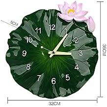 EDSH reloj de pared Relojes de pared creativa 14 pulgadas de la sala de Minimalistic atmósfera Mute reloj de pared Reloj de pared de estilo chino moderno Lotus Leaf sólido