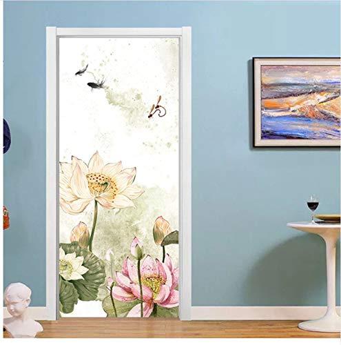 PANDABOOM Cartoon Whale Door Decor Aufkleber Kinder Schlafzimmer Kinderzimmer Abnehmbare Vinyl Wandbild Wasserdicht Aufkleber, J, 77X200 cm
