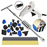 PDR Paintless Débosselage Réparation Super PDR 25 PCS Marteau coulissant Kit Debosselage Outillage Carrosserie Voiture Automobile Rayure Suppression Dent Reparation Auto