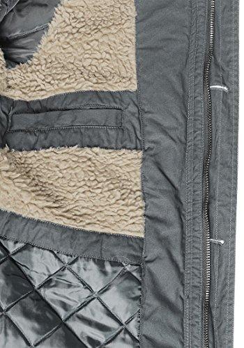 SOLID Clark Teddy Herren Parka lange Winterjacke aus 100% Baumwolle mit Kapuze und Kunstfellkragen, Größe:M, Farbe:Dark Grey (2890) - 7