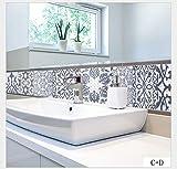 Carrelage Adhesif mural 20 X 20cm X20pcs Style Arabique Vintage Papier Peint...