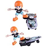 Electric Music Toy Doll,Littleice Cartoon Electric Stunt Scooter Light Music Children's Funny Toy Sliding Plate