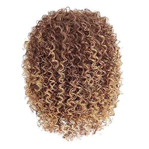 Sexy Kurze Lockige Frisuren (Braune Frauen natürliche sexy kurze gewellte lockige synthetische Perücke Fsahion Abschied Perücken)