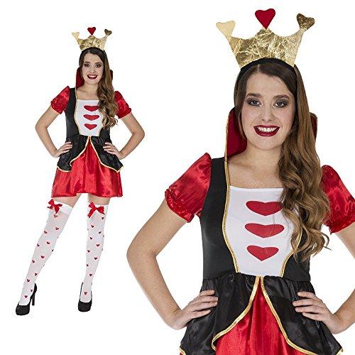Herzkönigin Märchen Sexy Spielkarte Herz Kostüm Damen Kurz (Spielkarte Herz Dame Kostüm)