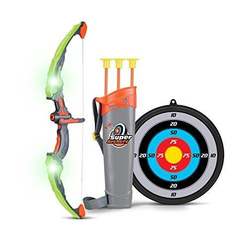 und Bogen Kinder Bogenschießen Schießspiele mit 3 Pfeilen, Geschenk für Jungen ab 6 Jahre, Grün ()