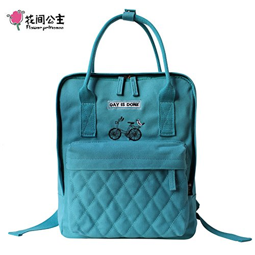 Un portable bandoulière tendance printemps-épaule sacs femmes sacs en toile d'origine Light Blue
