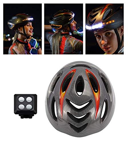 Fahrradhelm Herren Damen Kinder 54-61 cm Mountainbike Helm - Wiederaufladbarer USB-Fahrradhelm mit kabelloser Lenksignalfernbedienung - Erfüllt die CPSC- und CE-Normen zum Schutz der Sicherheit