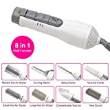 8-in-1 Multifunktionale Professionelle Styling Elektrische Haartrockner Haartrockner Set Volumen Styler Hair Styling Pinsel Kamm (Weiss)
