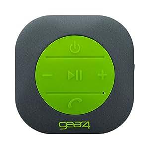 GEAR4 ShowerParty Waterproof Bluetooth Speaker with Handsfree Function (Stone)