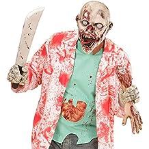 Careta zombie psicópata Antifaz de látex asesino Máscara muerto viviente Mascarilla de terror monstruo Caracterización The Walking Dead Accesorio Hallowen disfraz zombie