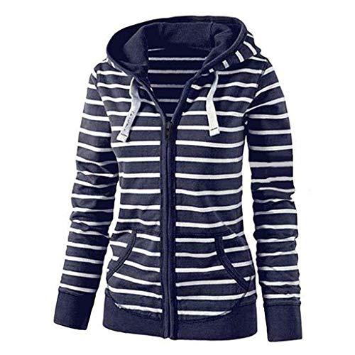 Mymyguoe Damen Sweatshirt Kapuzenpullover Jacke mit Kapuze Hoodie Sweatjacke Frauen Locker Reißverschluss Mantel Freizeit Sport Outwear Sweatshirt Pulli Strickjacke-Pullover -