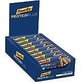 PowerBar Protein Riegel mit Casein, Whey und Sojaprotein – Eiweiß-Riegel, Fitness-Riegel reich an Ballaststoffen – Cappuccino-Caramel-Crisp (15 x 55g)