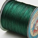 Super Starke Japanische grün geflochtene Angelschnur 500m Multifil PE Material geflochten Line 10–45kg, grün, 45 kg
