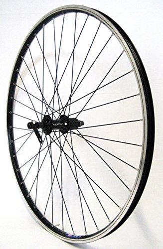 26 Zoll Fahrrad Laufrad Hinterrad Hohlkammerfelge CUT19 Shimano Deore 610 schwarz 8/9/10-fach für V-Brakes / Felgenbremse (Fahrrad Felgen 26)