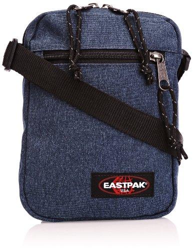 Eastpak Minor Bolso Bandolera, Diseño Double Denim, Color Azul