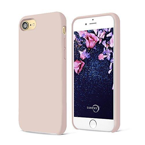 SURPHY iPhone 8 Hülle, iPhone 7 Hülle, Silikon schutzschale vor Stürzen und Stößen Silikon Handyhülle für iPhone 7 iPhone 8 Schutzhülle 4,7 Zoll, Sandrosa