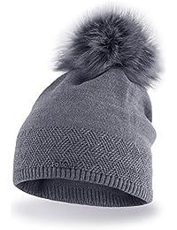 Pacchetto Cappello termico invernale da donna berretto di misura universale  in materiale gentile con la pelle d6a890ee2183