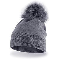 Pacchetto Cappello termico invernale da donna berretto di misura universale in materiale gentile con la pelle