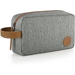 GAGAKU Hombre Dopp Kit Impermeable Neceser Bolsa de Aseo Neceser de Viaje Bolsa de Cosmético - Marrón