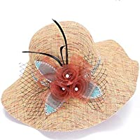Sra primavera y verano sombreros, sombreros de moda ropa, sombrero para el sol, protector solar de sombreros, sombrero
