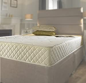 Memory Foam Matress New Quilted Sprung Mattress 4ft6 Double