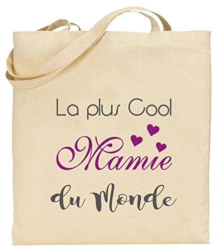 Tote Bag - Sac en Toile - Cadeau pour Mamie - Cadeau pour la fête des Grands Mères, Noël, Anniversaire, Fête de Mamy (Sac 2)