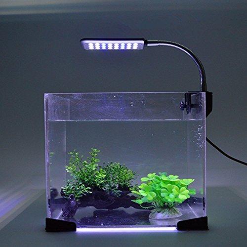 Asvert LED Aquarium Beleuchtung Lampe 48 LEDs für 30-60 cm Aquarien 360°flexibel mit Touch-Schalter 3W Aquarium Lampe Aquarium beleuchtung LED Lampe Aufsetzleuchte Ultra Hell für Fish - Led-aquarium-lichter 48