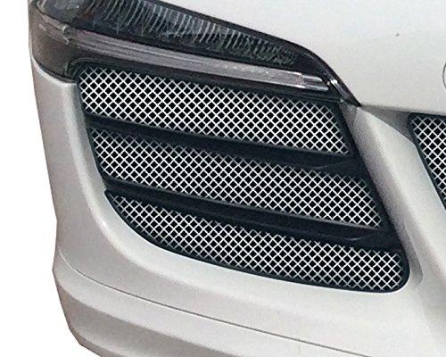 Zunsport Compatible avec Porsche 991.1 GTS - Ensemble calandre extérieur (sans capteurs de stationnement) - Finition Argent (2015-2016)