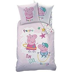 CTI 044727Peppa Pig Recreation–Juego para niños algodón, 200x 140cm, color blanco