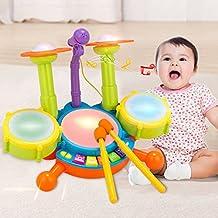 Per Kit de Tambor de Jazz Juguete Musical con Micrófonos Juego Educativo Infantil para los Niños Ragalo para Cumpleaños Juguetes con Sonidos para Bebés