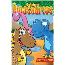 Libro para niños: FANTASTICOS DINOSAURIOS: Libros para colorear, pintar y jugar.
