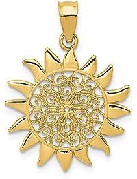 Amazon.fr   Pendentif soleil or - Pendentifs seuls et pièces   Femme ... 580a3cb530e9