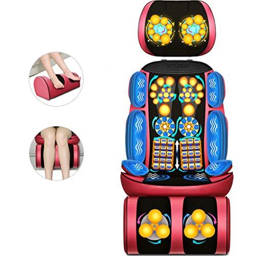 XQAQX Shiatsu massagegerät Shiatsu Back Shoulder Massager - Verstellbarer Massagesessel, Rücken- und Beinmuskulatur mit Shiatsu, Rollen, Vibration, beruhigende Wärmebehandlungen
