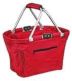 faltbarer Einkaufskorb Shopping Bag in verschiedenen Farben Rot OneSize