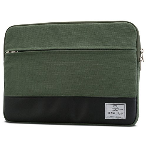 "Laptophülle 13 - 13.3 Zoll Grün - Johnny Urban Canvas Laptop Sleeve Laptoptasche Hülle für MacBook Air 13"" & Pro 13"" Surfac..."