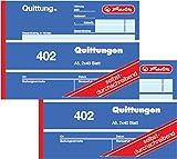 Herlitz Bloc de facturas 402, papel autocopiativo, A6horizontal, 2x 40hojas