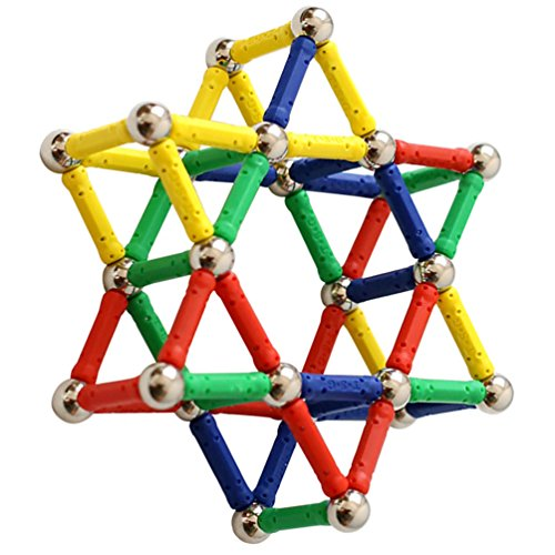 Bloques lógicos Magnéticos. Juguete de Aprendizaje y construcción para Adultos y Niños (84pcs)