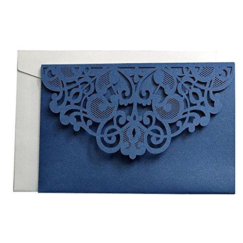 Mignon84cook 10pcs stile europeo laser cut inviti di nozze carte, biglietti da visita pieghevoli affari del merletto per il compleanno, decorazione del partito