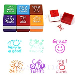 "Gifts 4 All Occasions Limited SHATCHI-133-12 sellos de recompensa con texto en inglés""Thank You Teacher"", multicolor"