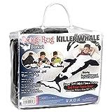 Snug Rug Killer Whale Tail Super Weiche Qualität Mink Fleecedecke, schwarz und weiß